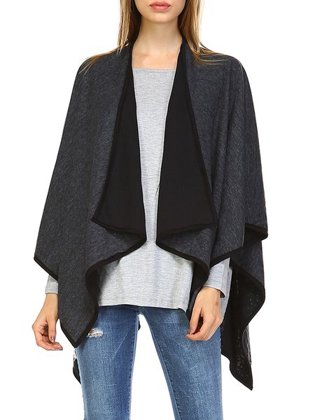 Asymmetrical Batwing Resort Plain Reversible Cape
