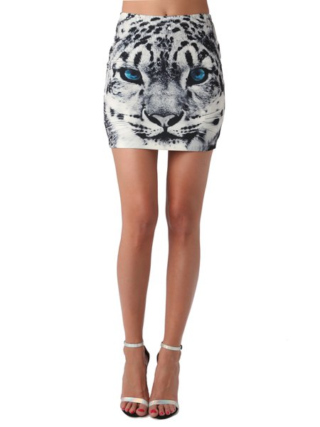 Gray Casual Graphic Sheath Polyester Mini Dress