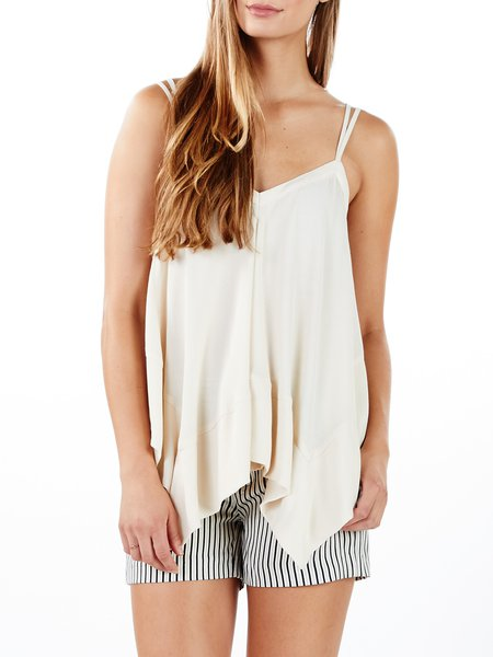 Beige Spaghetti Resort Plain Cami