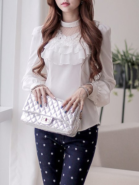 Long Sleeve Sweet Embroidered Shirt