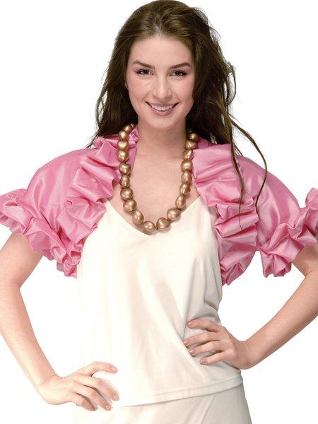 Polyester Elegant Frill Sleeve Cropped Jacket