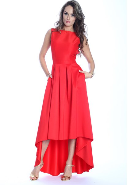 Plain Sleeveless Elegant High Low Maxi Dress