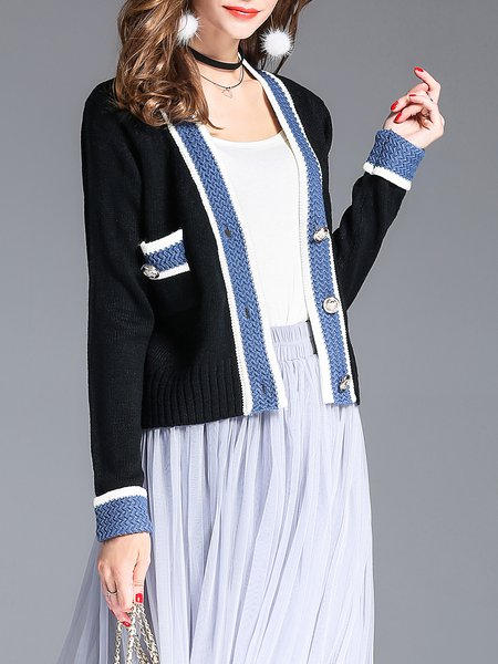 Solid Casual Pockets Cardigan