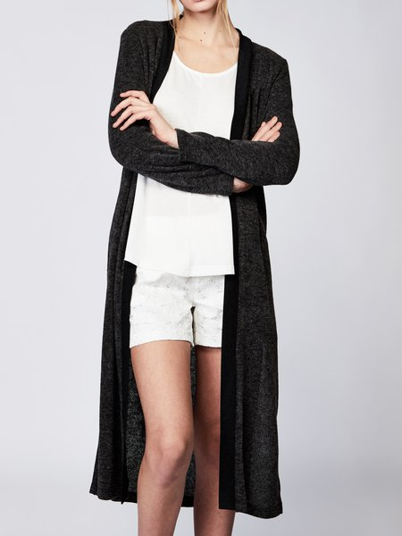 Casual H-line Plain Long Sleeve Cardigan