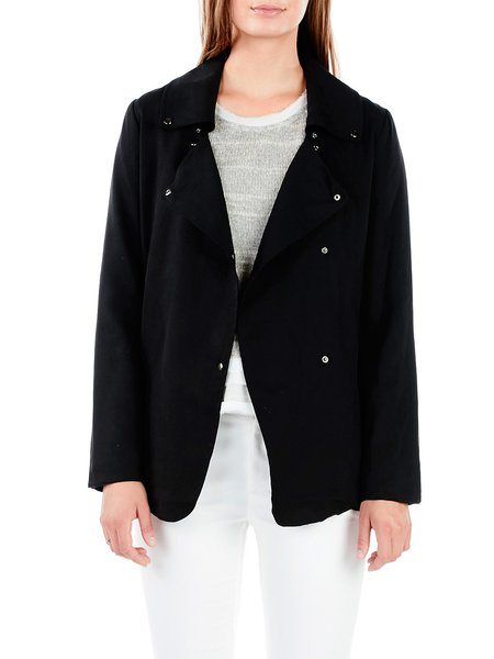 Simple Zipper Long Sleeve Coat