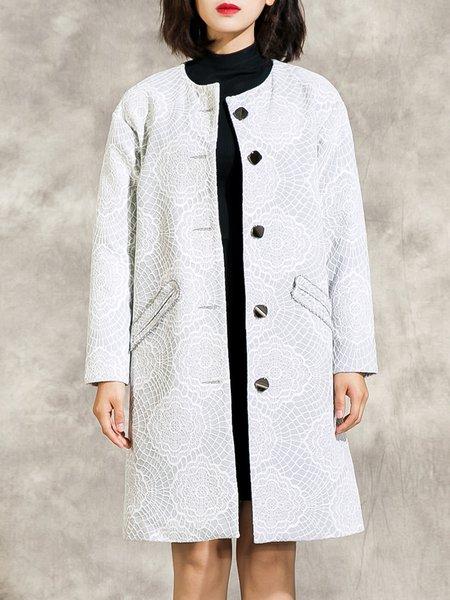 Long Sleeve Guipure Lace Elegant Coat