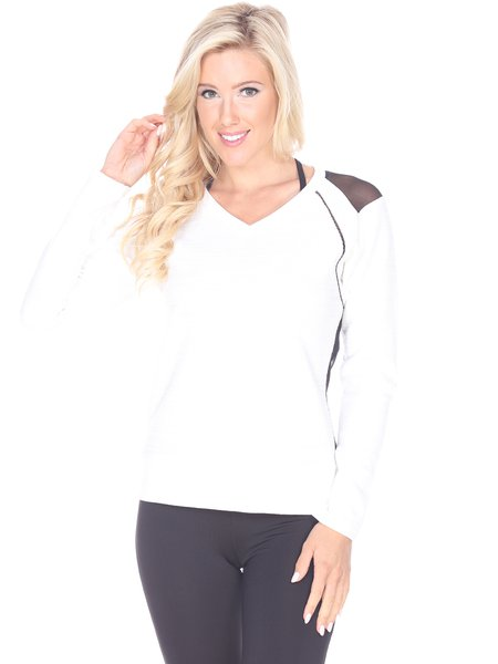 White Breathable Slightly Stretchy Top