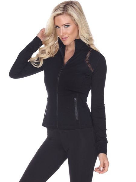 Black Breathable Slightly Stretchy Cotton Jacket