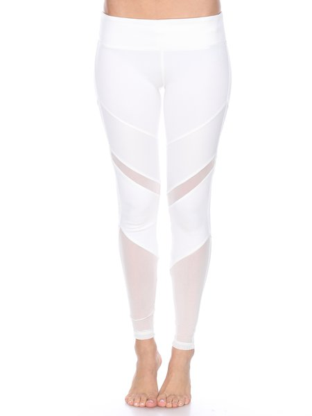 White Cotton Natural Slightly Stretchy Breathable Bottom Leggings