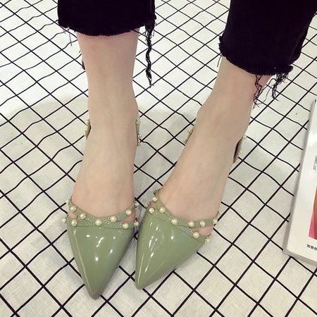 Summer Chunky Heel PU Heels