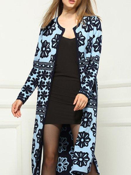 Casual Long Sleeve Wool Coat