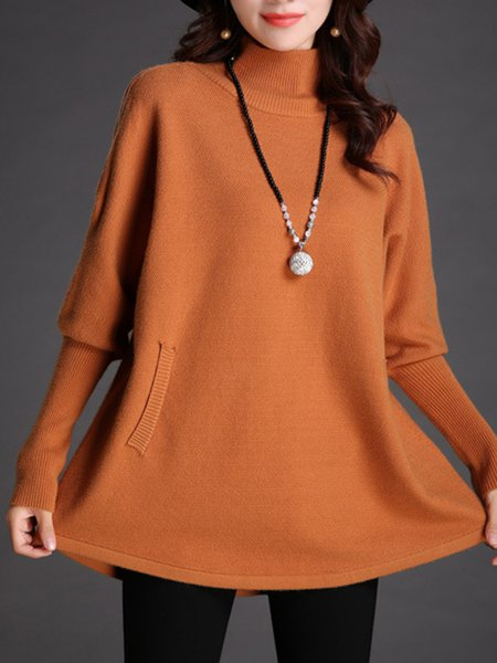 Long Sleeve Turtleneck Wool Sweater
