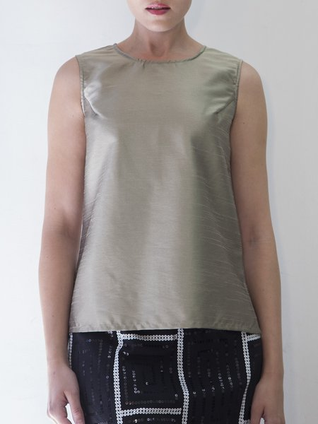 Silver Plus Size Nylon Simple Solid Tanks