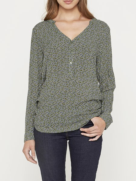 Elegant Plain Viscose Long Sleeve Blouse
