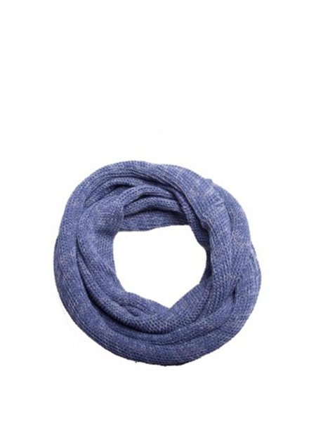Purplish Blue Knitted Melange Casual Scarf