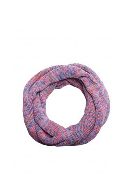 Purple Casual Melange Knitted Scarf