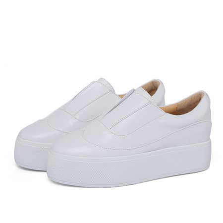 Creeper White Leather Casual All Season Creepers