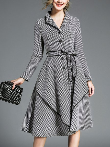 Black-white Houndstooth Mini Dress