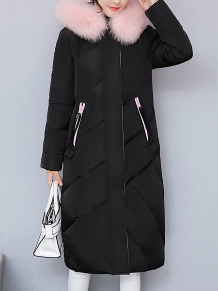 Long Sleeve Patch Casual Letter Hoodie Coat