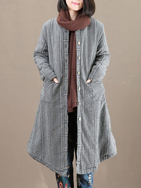 Long Sleeve Casual Pockets Outerwear