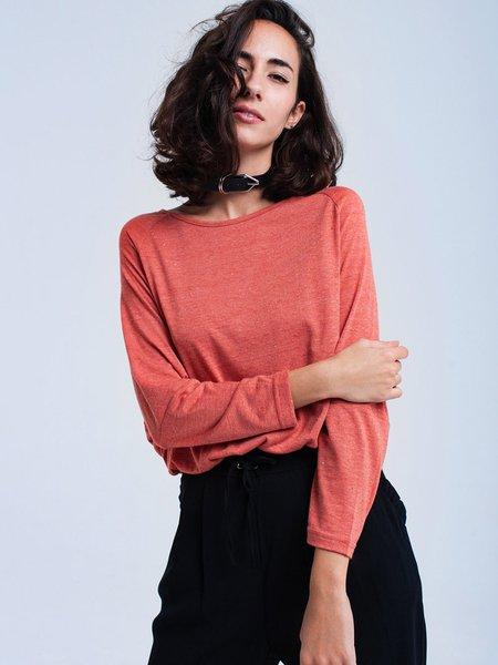 Casual Long Sleeve Plain Top
