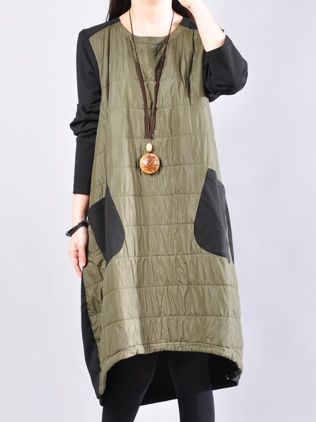 Asymmetric Casual High Low Long Sleeve Dress