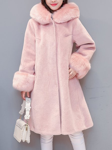 Long Sleeve Fluffy Elegant Fur And Shearling Coat