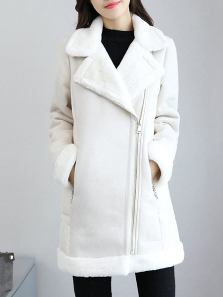 Long Sleeve H-line Paneled Casual Outerwear
