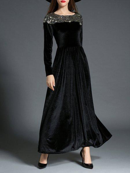 Maxi dress long sleeve black