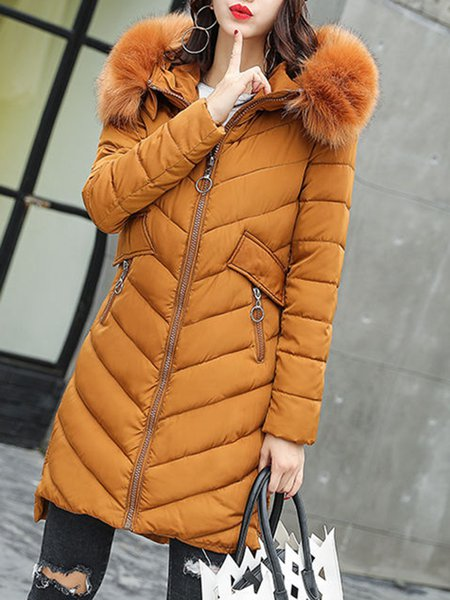 Long Sleeve Solid Asymmetric Casual Fur And Shearling Coat