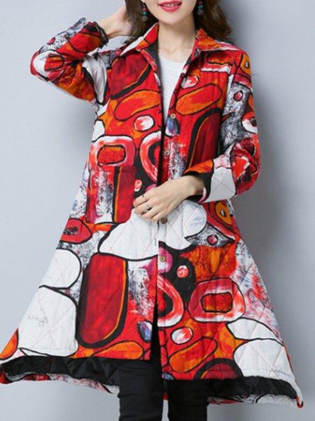 Long Sleeve Cotton Casual Asymmetric Coat