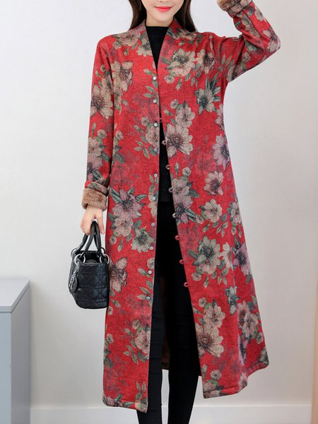 Cotton Buttoned Long Sleeve Casual Outerwear