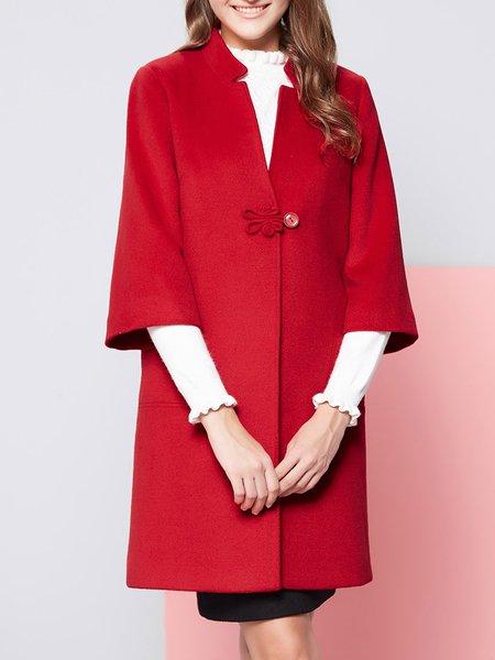 Red H-line Vintage Coat
