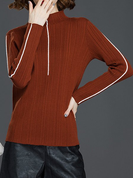 Turtleneck H-line Long Sleeve Casual Sweater
