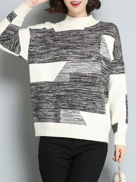 Long Sleeve Knitted H-line Casual Sweater