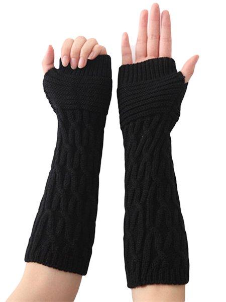 Casual Acrylic Plain Gloves