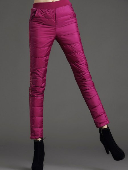 Rose Beaded Polyester Leggings