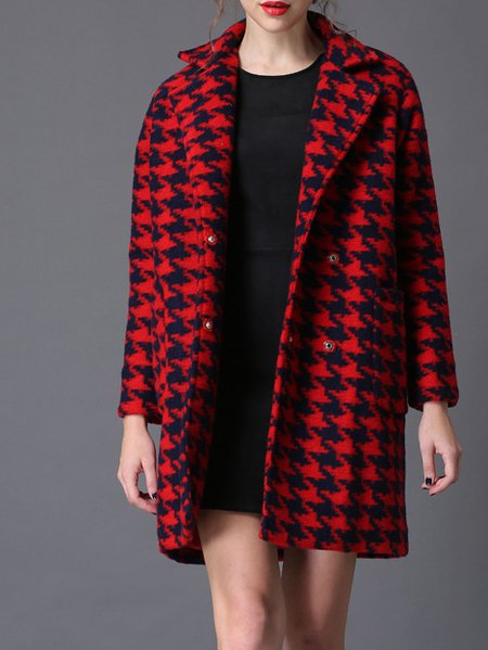 Red Shift Long Sleeve Coat