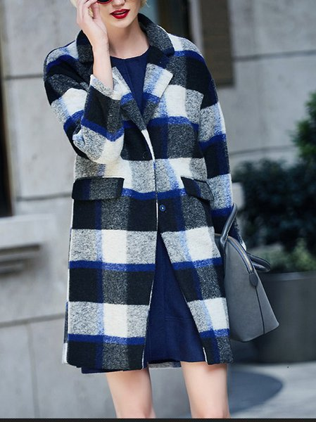 Long Sleeve Vintage Shift Coat