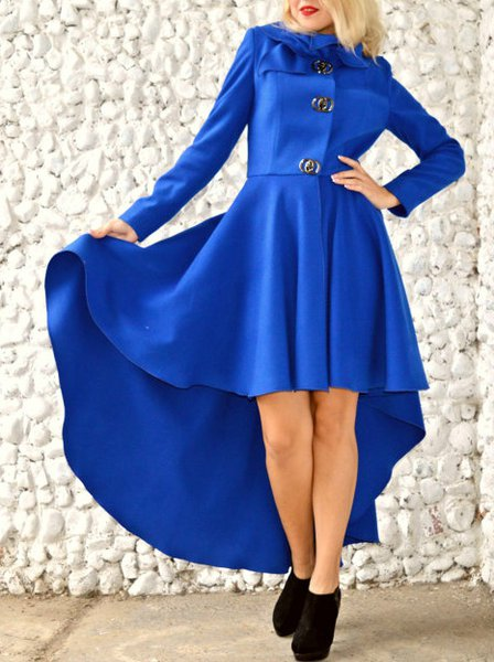 Blue Long Sleeve Hand Made Coat