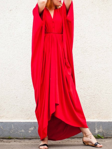 Red Shift Sleeveless Maxi Dress
