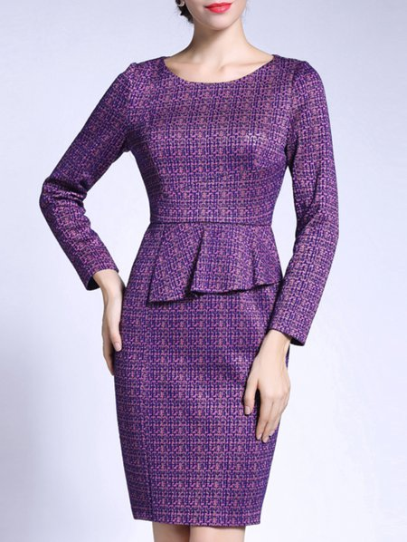 Sheath Cocktail Long Sleeve Mini Dress