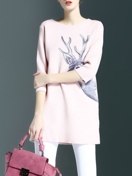 Appliqued 3/4 Sleeve Tunic
