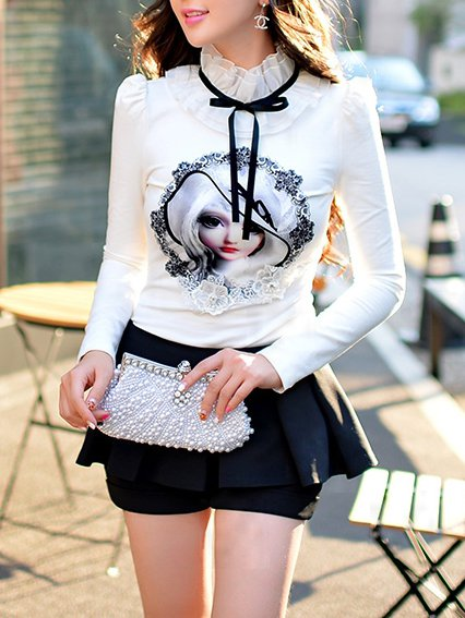 Sweet Long Sleeve Turtleneck Blouse