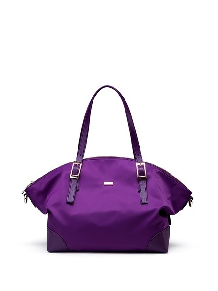 Purple Casual Medium Satchel
