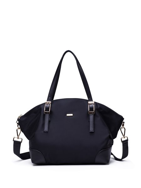 Black Medium Casual Nylon Tote