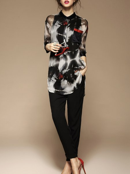 https://www.stylewe.com/product/black-3-4-sleeve-shift-silk-v-neck-blouse-3488.html
