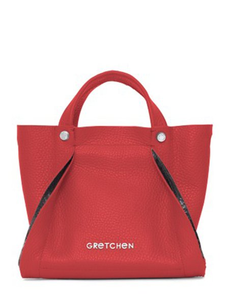 Red Small Calfskin Leather Top Handle