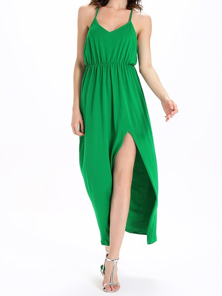 Halter Spaghetti Sexy Maxi Dress