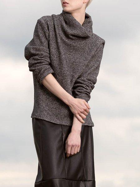 Grey Acrylic Plain Casual Long Sleeved Jumper
